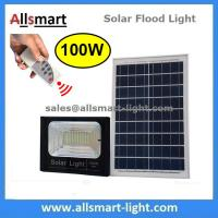 Buy cheap 100W Solar Flood Lights Outdoor Remote Control LED Street Light With Solar Panel Battery for Garden Patio Parking Lot from wholesalers