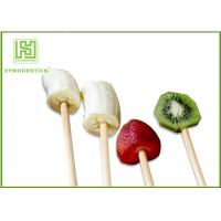 Wholesale 100% Natural Wood Flat Round Fruit Skewer Sticks For Kids Party from china suppliers