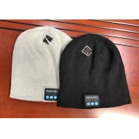 Wholesale Music Unisex Hands-free Women Slouchy Bluetooth Beanie Winter Hats Wireless Earbuds Hat Custom Knit Cap with Bluetooth E from china suppliers