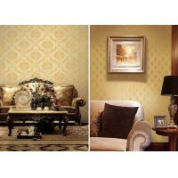 Wholesale Brown Concise Vintage Damask Wallpaper , Concise European Wall Covering from china suppliers