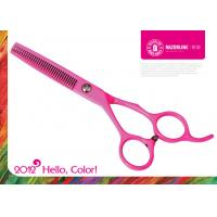 Wholesale Color Pink Teflon Coating Convexedge Stainless Steel Professinal Hair Cutting Scissors from china suppliers