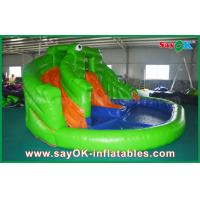 Wholesale Pvc Summer Inflatable Bouncer Slide Outside Frog Water Slide with Print from china suppliers
