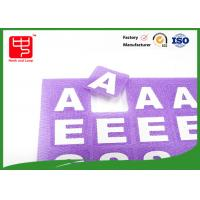 Wholesale Reusable Die Cut hook and loop Alphabet Letters , self adhesive hook and loop dots With Printing Words from china suppliers