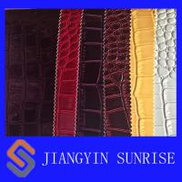 Wholesale Grain PU Crocodile Faux Leather Fabric For Bags from china suppliers