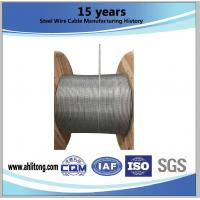Wholesale Stiffness Galvanized Steel Strand Cable Strength 1000-1750 MPA , ISO 9001-2008 Certificate from china suppliers