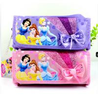 Wholesale Purple / Pink Disney Princess Plush Pencil Bag with Zipper For Promotion Gifts from china suppliers