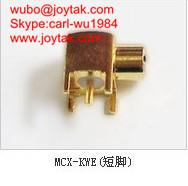 Wholesale High quality gold plated MCX jack right angle to PCB mount type coaxial connector MCX-KWES from china suppliers