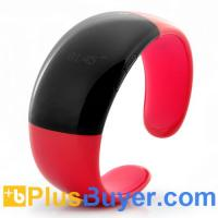 Wholesale Fashionable Red Bluetooth Bracelet (Call Answer/Talk, Time & Caller ID Display, Security Vibration) from china suppliers