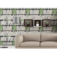 Wholesale Green Plants And Books Printing 3D Home Wallpaper Modern Concise Style For Coffee Shop from china suppliers