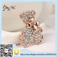 Wholesale Unique Design Wholesale Fashion Jewelry Wholesael Bulk Gold Panda Brooch For Girls from china suppliers
