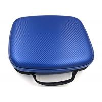 Wholesale PU Surface Hard Tool Case For Air Travel / Blue Hard Carrying Case Embossed LOGO from china suppliers