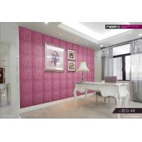 Quality Eco-friendly Customized color Luxury soft leather design room decor 3d wall stickers for sale