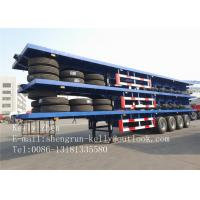 Wholesale Tri - Axle 20 Feet Semi Container Trailer , 40ft Flatbed Semi Trailers from china suppliers