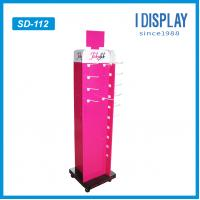 Buy cheap 4 sides Retail hook display mobile phone accessory display with wheels from wholesalers