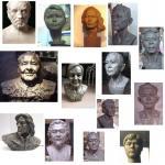 Wholesale portrait art sculpture in resin,portrait sculpture in bronze from china suppliers