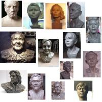 Wholesale portrait art sculpture in resin,portrait sculpture in bronze from china suppliers