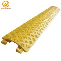 Wholesale Yellow Single Channel Floor Core Cable Protector Ramp Indoor Usage For Promotion from china suppliers