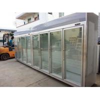 Wholesale Heater Glass Door Commercial Beverage Cooler For Supermarket / Store Two Layers from china suppliers