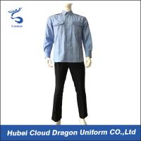 Wholesale Breathable Blue Long Sleeve Security Shirt Uniform For Security Guards from china suppliers