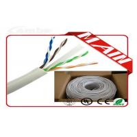 Wholesale CCTV System White Ethernet Cable , 24 AWG Bare Copper Cat6 Ethernet Cable 1000 Ft from china suppliers