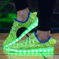 Wholesale Hot Sale New Design Flyknit Led Shoes with 7 led color from china suppliers