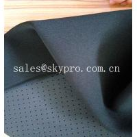 Wholesale 4mm Black Skid Proof Breathable Perforated Nylon Fabric Single Side Polyester Knitted from china suppliers