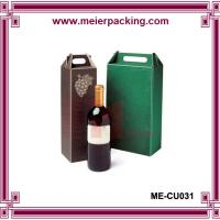 Wholesale Wine paper cardboard packaging box with paper handle ME-CU031 from china suppliers