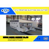 Buy cheap Carton box making Flexo Printing slotter  Machine With 100 Pieces / Min Max Speed ,Corrugated Carton Machinery from wholesalers