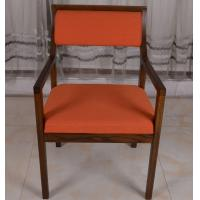Wholesale Wooden Restaurant Booth Furniture Armchair Popular Dining Chair With Fabric Seat from china suppliers
