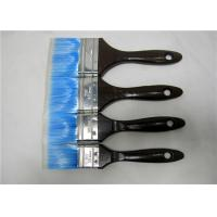 Wholesale Blue Nylon Flat Paint Brush With Black Wooden Handle , Painting Tools For Walls from china suppliers