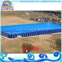 Wholesale Above Ground steel metal Frame swimming Pool,PVC frame pool from china suppliers