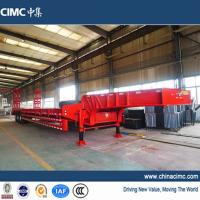 Wholesale CIMC 3 axles fixed neck low loader trailer 80 tons from china suppliers