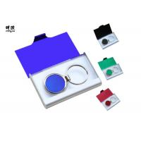 Wholesale Branded Metal Name Card Holder And Keychain Business Gift Sets Any Color Available from china suppliers