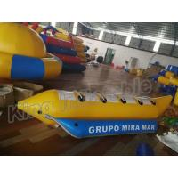Wholesale Blue And Yellow Inflatable Banana Boats Fly Fishing Boats For Sale from china suppliers