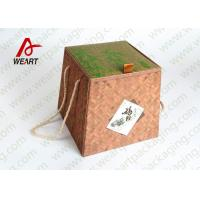 Wholesale Bamboo Made Double Faced Foldable Paper Box For Food Products 24 X 24 X 8cm from china suppliers