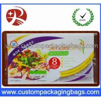 Wholesale Laminated Instant Noodles Plastic Food Custom Packaging Bags , 3 Sides Heat Seal from china suppliers