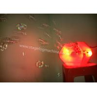 Wholesale stage Bubble Machine 2*3W rgb LED Bubble Making Machine For Family Party , KTV from china suppliers