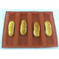 Quality 4 rolls silicone bread baking mold for sale