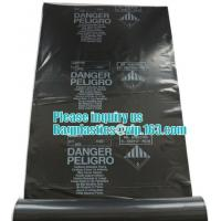 Quality BUILDING FILMS, Asbestos bag, PE asbestos bag, building waste bag asbestos bag, building waste bag asbesto, rubble sacks for sale