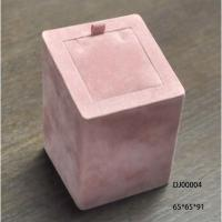 Wholesale Pink Ring Holder Jewellery Display Box For Women Square Pink Fabric Painting from china suppliers
