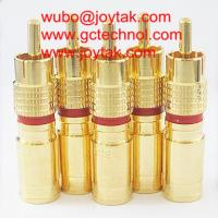 Wholesale RCA Coaxial Connector Compression Type RG6 RG59 Coaxial Cable CCTV Gold Plated / RCA.C.05G from china suppliers