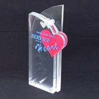 Wholesale Custom Engraved Corporate Gift Acrylic Award Trophy With Silk Printing Logo from china suppliers