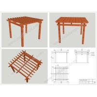 Wholesale WPC prefabricated DIY pergola plans 4M*4M*3M or customized size(OLDA-5001B) from china suppliers