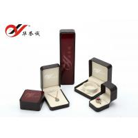 Wholesale Burgundy Plastic Jewellery Box Tear Resistant For Ring / Bracelet / Necklace from china suppliers