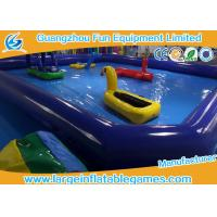 Wholesale Dark Blue Inflatable Water Pool For Water Floating Park Games , Customized Swimming Pool Inflatable from china suppliers
