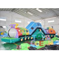 Wholesale 18M Long Inflatable Train Tunnel Game For Kids Playground Park from china suppliers