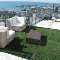 Wholesale 20mm Outdoor Artificial Grass , 235g , artificial turf lawns for roof greening from china suppliers