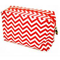 Wholesale chevron cosmetic bag wholesale /chevron canvas makeup bag from china suppliers