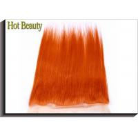 Quality Customized 360 Wig Virgin Human Hair Orange Color 20 Inch No Shedding Tangle Free for sale