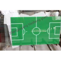 Wholesale 8MM green and blue table football tempered glass from china suppliers